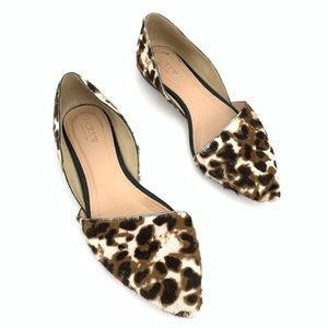 J.Crew Collection Calf Hair D'Orsay Flats Size 8